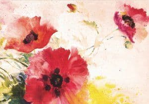 Watercolour Poppies Notecards